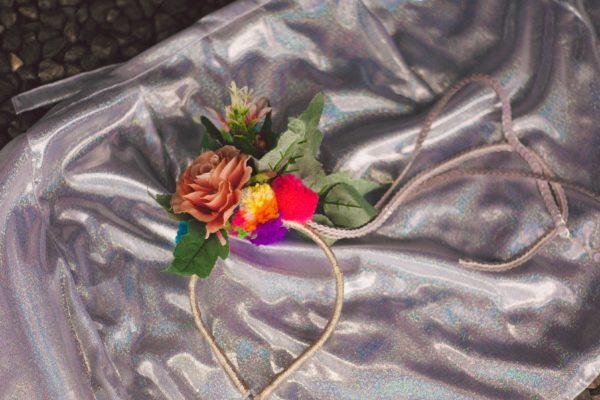 arco pompom flores